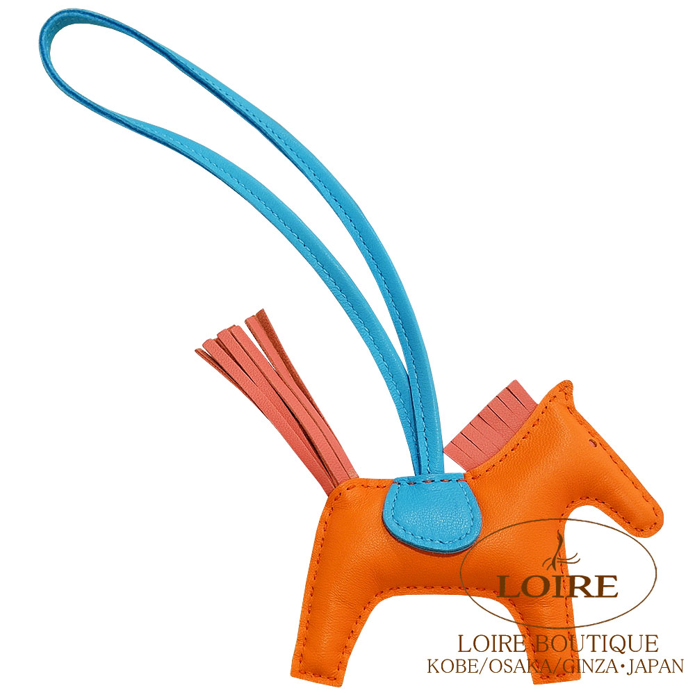 エルメス [HERMES] チャーム ロデオ PM [GRIGRI RODEO] アニオン×コットン オレンジポピー×ローズアザレ×ブルー [ORANGE POPPY(8V)×ROSE AZALEE(8W)×BLEU]
