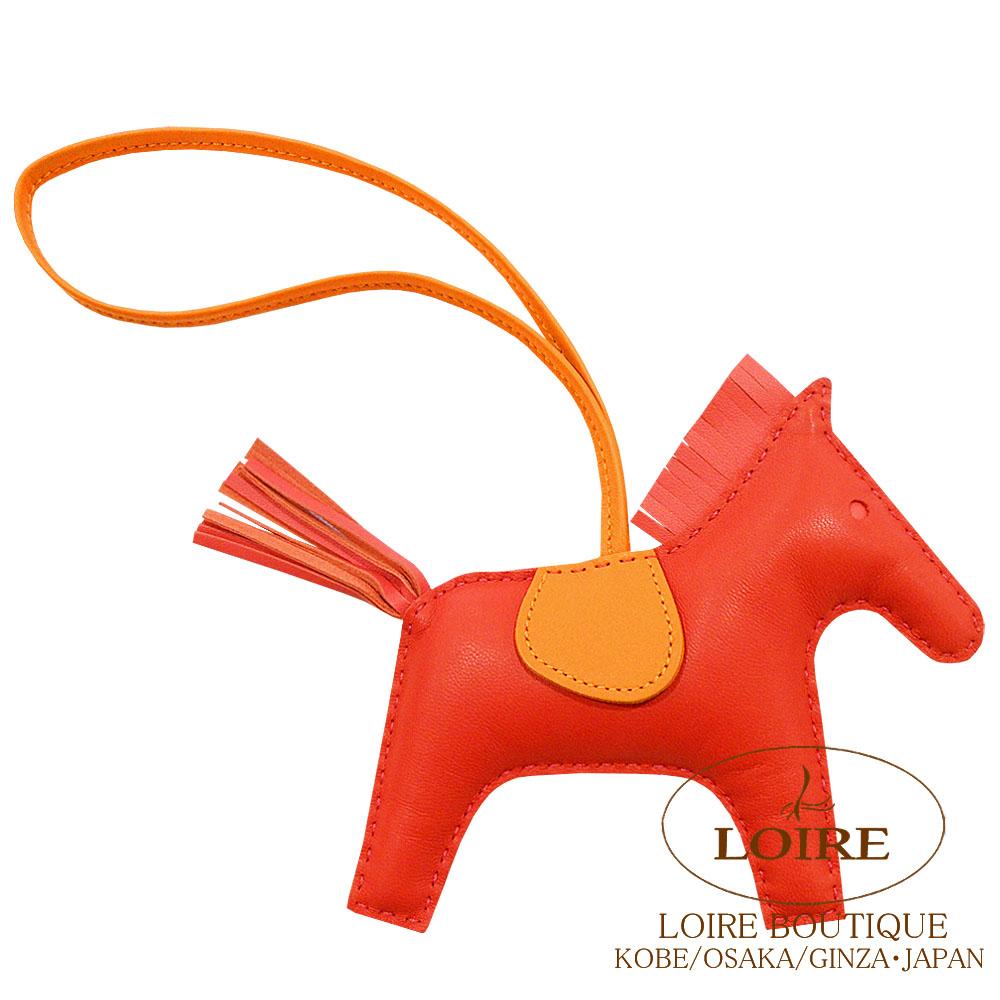 エルメス [HERMES] チャーム ロデオ MM [GRIGRI RODEO] アニオン×コットン ルージュインディアン×ローズジャイプール×フュー [ORANGE POPPY(8V)×ROSE AZALEE(8W)×BLEU]