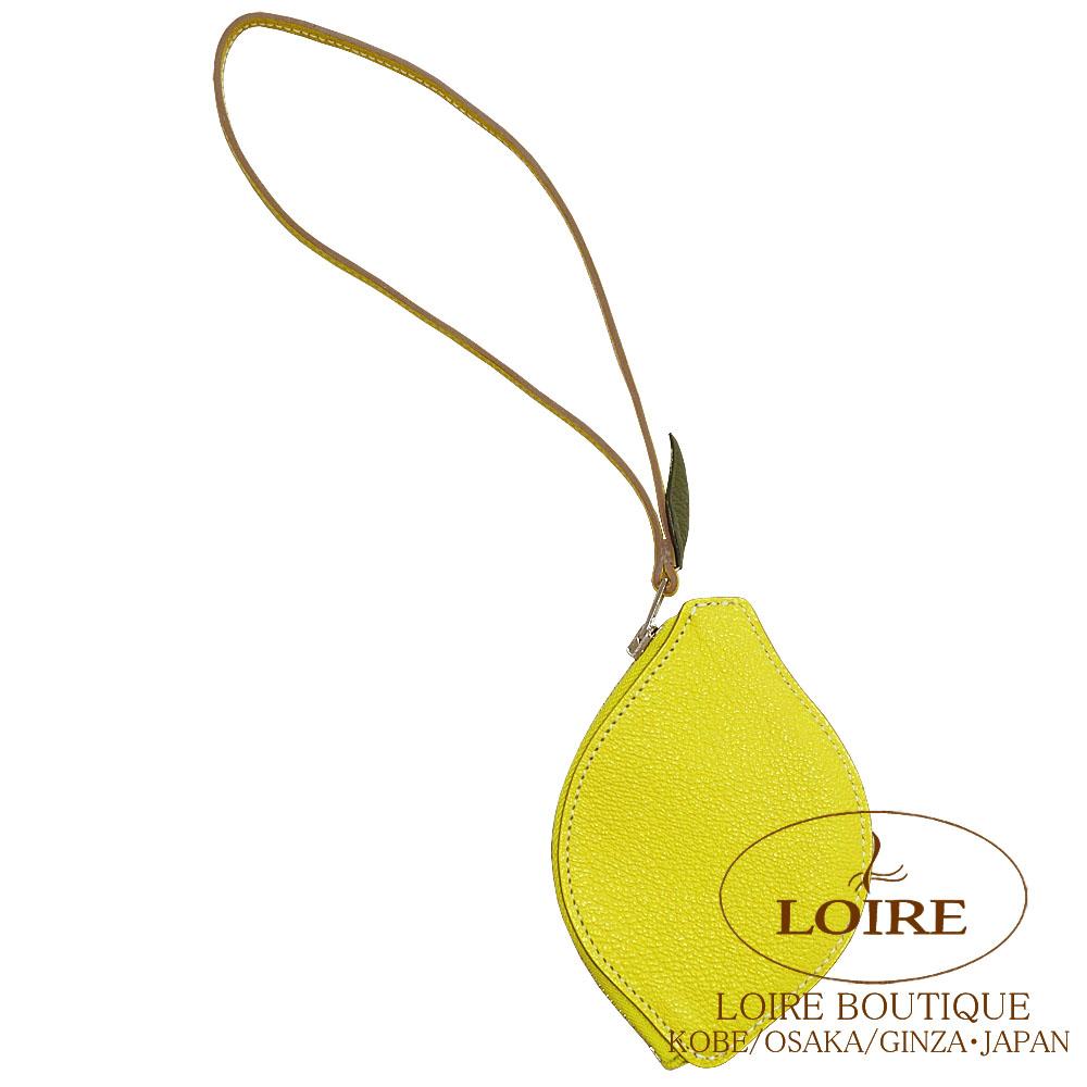 エルメス [HERMES] ポルトモネ チャーム型コインケース レモン シェーブル ライム [LIME(9R)] シルバー金具