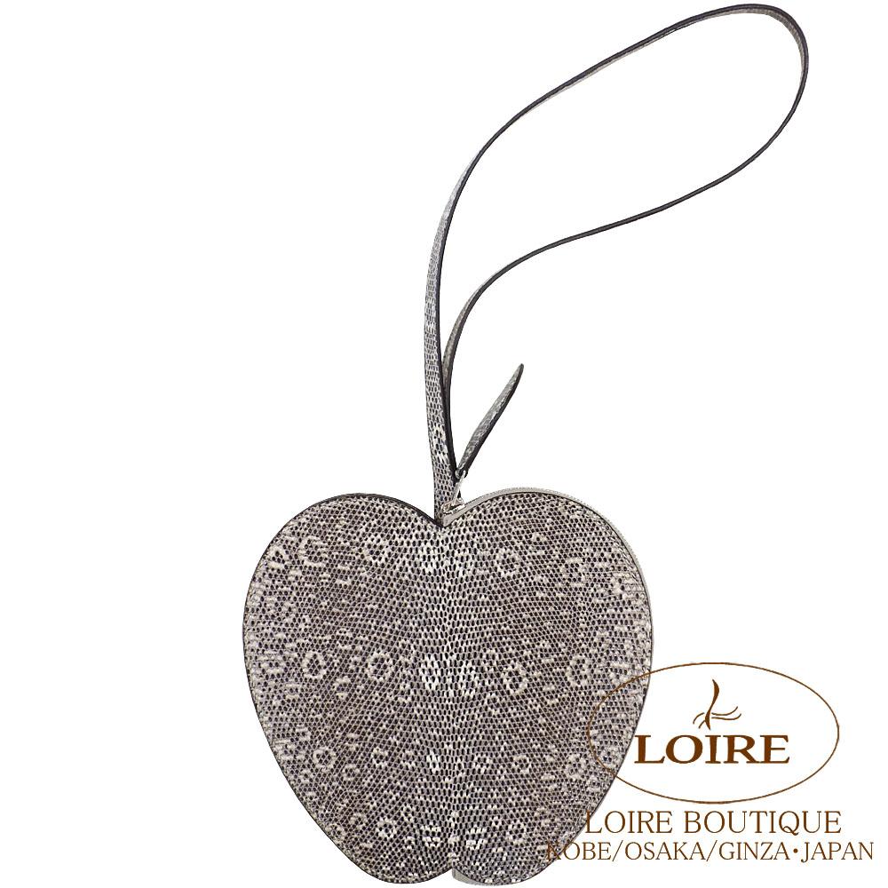 エルメス<br>ポシェット<br>リンゴ<br>リザードナチュラ<br>オンブレ<br>シルバー金具