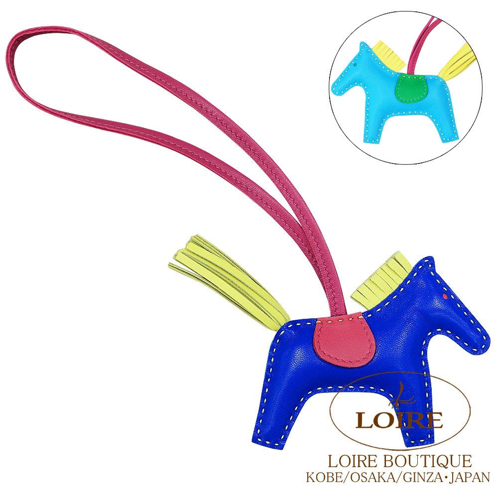エルメス [HERMES] チャーム ロデオ2 PM [GRIGRI RODEO 2] アニオン×コットン ブルーエレクトリック×ローズショッキング×スフレ×ブルーアズティック×ミント×トスカ