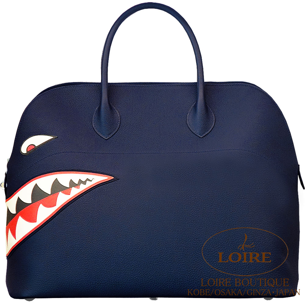 エルメス [HERMES] ボリード シャーク 45cm [Bolide shark 45cm] トゴ ブルーニュイ [BLUE NUIT(2Z)] シルバー金具