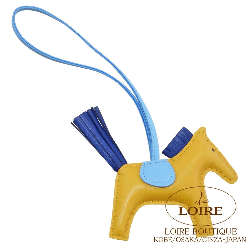 エルメス [HERMES] チャーム ロデオ PM [GRIGRI RODEO] アニオン×コットン ブトンドール×ブルーサフィール×セレステ<br>[BOUTON DOR()/BLEU SAPHIR(73)/CELESTE(7N)]