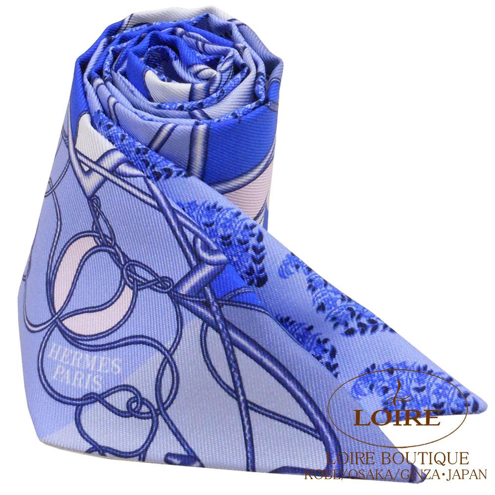 エルメス [HERMES] トゥイリー [TWILLY] シルク ムチ・ブロック ブルー×シロ×ローズ [BLUE/BLANC/ROSE]