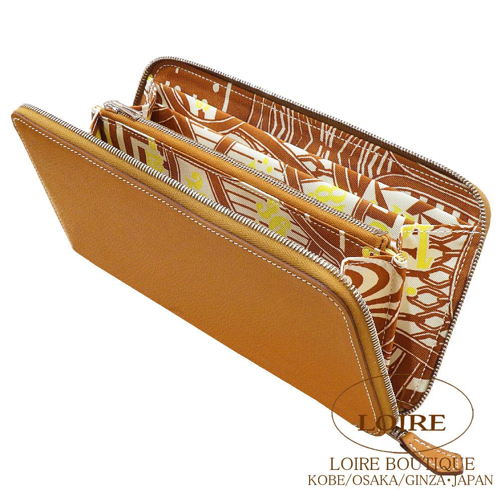 エルメス [HERMES] アザップ シルクイン [Azap Silkin] エプソン×シルク ゴールド ×シロ [GOLD(37)/BLANC(01)] シルバー金具