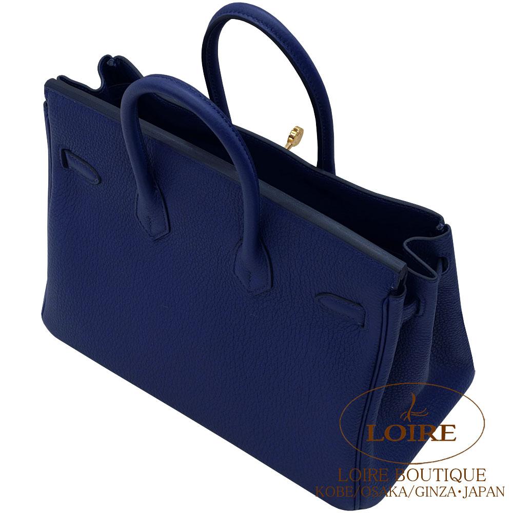 new style de1a6 d09ae エルメス [HERMES] バーキン 25cm [Birkin 25cm] トゴ ブルー ...
