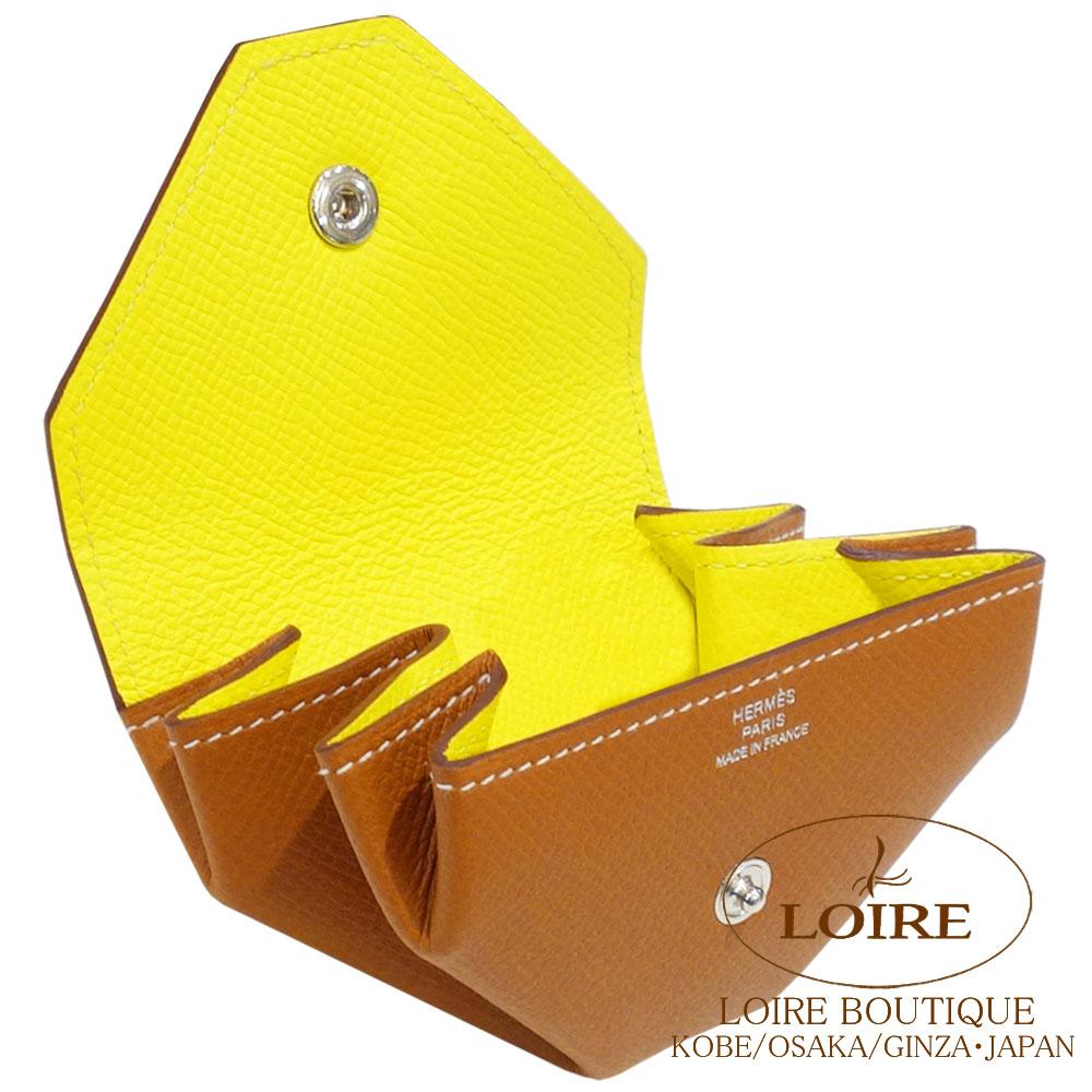 エルメス [HERMES] ル・ヴァンキャトル ヴェルソ [Le 24 Verso] コインケース エプソン ゴールド×ライム [GOLD(37)/LIME(9R)] シルバー金具