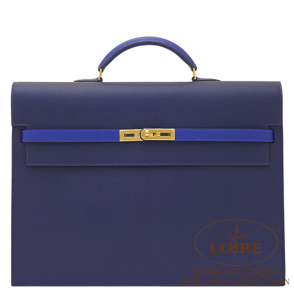 エルメス [HERMES] ケリー ディペッシュ 38cm パーソナルオーダー エプソン ブルーサフィール×ブルーエレクトリック [BLEU SAPHIR(73)/BLEU ELECTRIQUE(7T)] ゴールド金具