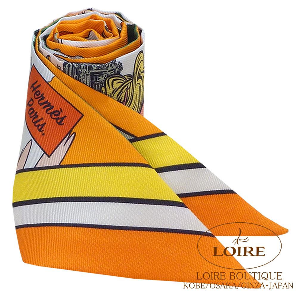 エルメス<br>トゥイリー<br>シルク<br>WOW<br>オレンジ×ヴェール×ローズ